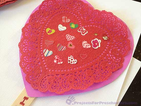 Make a craft stick Valentine