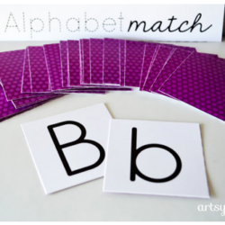 Alphabet Matching Fun with a Free Printable