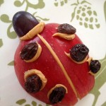 Final apple and raisin ladybug snack