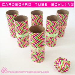 Make a Cardboard Tube Bowling Game with Duck Tape