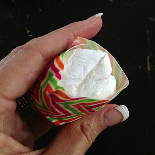 Make a paper ball and wrap with Duck tape