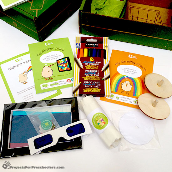 Fun color activity box from Kiwi Crate