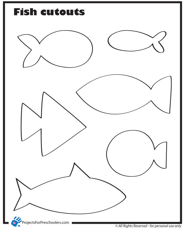 Fish Cut Outs - Projects for Preschoolers