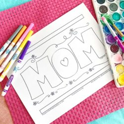 Mother's Day Coloring Page