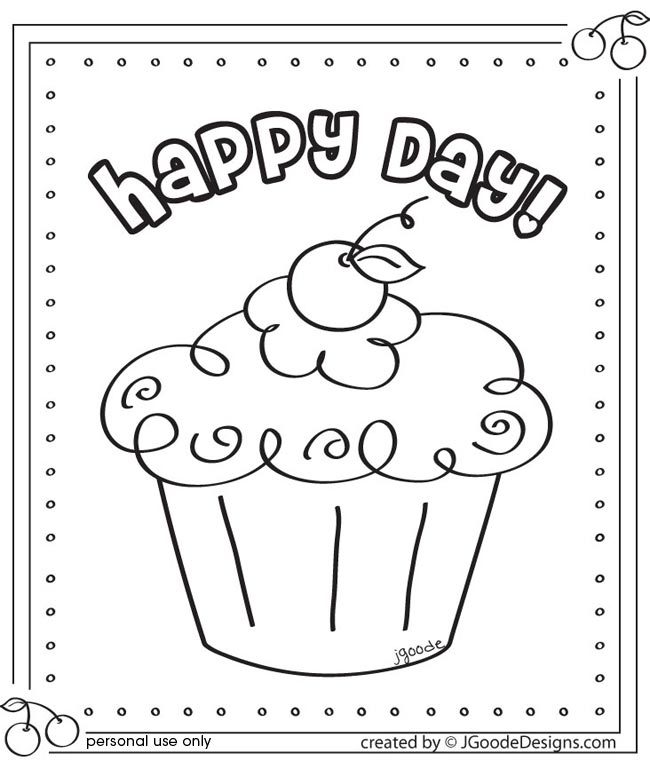 Happy Day Cupcake