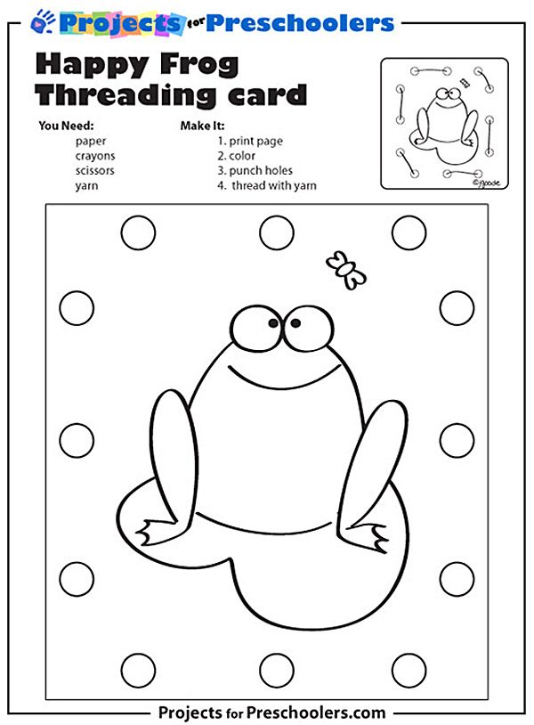 Frog Threading Card